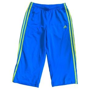 Adidas kids pants, loose, large, blue and green